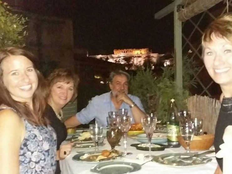 Greek Dinner Overlooking the Acropolis