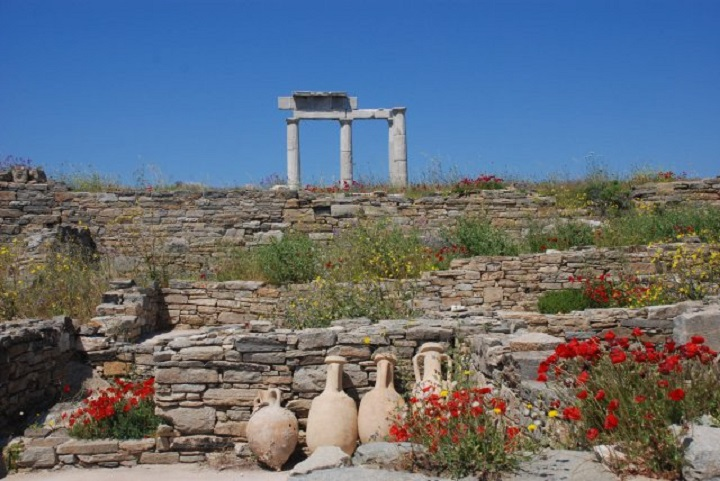 Island of Delos. Greece