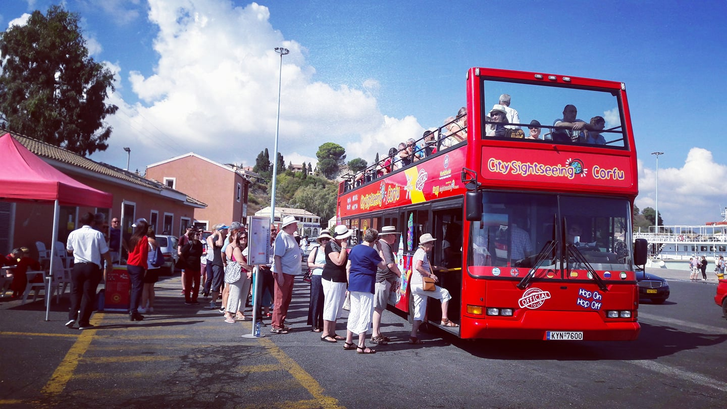 City Sightseeing tour of Corfu
